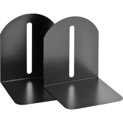 "STEELMASTER® Fashion Steel Bookends, 9"", Black"