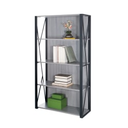 Safco® Mood™ 4-Shelf Bookcase, Gray