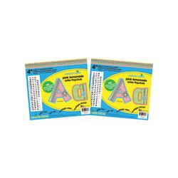 """Barker Creek Letter Pop-Outs, 4"""", Pink Lemonade, Pack Of 510"""