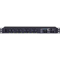 CyberPower PDU81004 100 - 120 VAC 15A Switched Metered-by-Outlet PDU - 8 Outlets, 10 ft, IEC-320 C14, Horizontal, 1U, LCD, 3YR Warranty