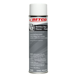 Betco Aerosol Stainless Steel Cleaner And Polish, 17 Oz, Pack Of 12