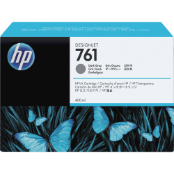 HP 761 Original Ink Cartridge - Single Pack - Inkjet - Dark Gray - 1 Each