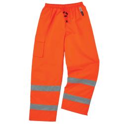 Ergodyne GloWear 8925 Class E Polyester Thermal Pants, Medium, Orange