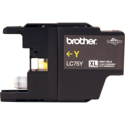 Brother LC75Y Original Ink Cartridge - Inkjet - 600 Pages - Yellow - 1 Each