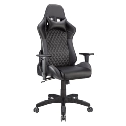Realspace® DRG Gaming Chair, Black/Gray
