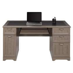 "Realspace® Magellan 59""W Managers Desk, Gray"