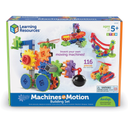 Learning Resources Gears! Gears! Gears! Machines in Motion - Theme/Subject: Learning - Skill Learning: Basic Engineering Principles, Creativity, Building, Interactive Learning, Machines, Vehicle, STEM, Critical Thinking - 4 Year & Up - 112 Pieces