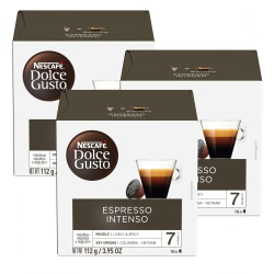 Nescafe® Dolce Gusto® Single-Serve Coffee Pods, Espresso Intenso, Carton Of 48, 3 x 16 Per Box