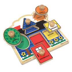 Melissa & Doug First Shapes 5-Piece Jumbo Knob Puzzle