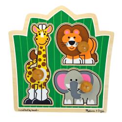 Melissa & Doug Jungle Safari Friends 3-Piece Jumbo Knob Puzzle