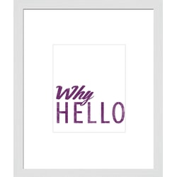 """PTM Images Matted Framed Wall Art, Why Hello, 23 1/2""""H x 19 1/2""""W"""