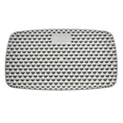 """Victor® Steppie Soft Top Reflexology Mat, 1/16""""H x 22 1/8""""W x 14 1/4""""D, Gray"""