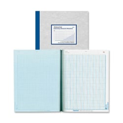 "National® Brand Laboratory Research Notebooks, 9 1/4"" x 11"", Quadrille Ruled, 100 Sheets, Gray/Blue"