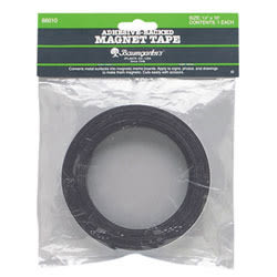 "Zeus Magnetic Labeling Tape, 1"" x 100', Black"