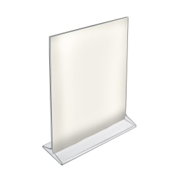 """Azar Displays Top-Load Acrylic Sign Holders, 11"""" x 8 1/2"""", Clear, Pack Of 10"""