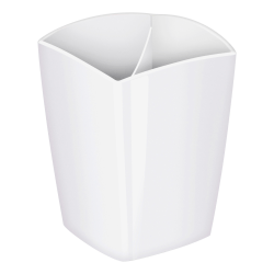 "CEP Large Gloss Pencil Cup, 3-13/16"" x 3"", White"