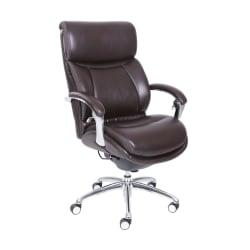 Serta® iComfort i5000 Executive Bonded Leather High-Back Chair, Chocolate/Silver