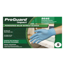 ProGuard General-purpose Disposable Nitrile Gloves, Small, Blue, Box Of 100