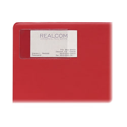 """C-Line® Self-Adhesive Business Card Holders, 2"""" x 3 1/2"""", Clear, Pack Of 10"""