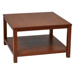Ave Six Merge Coffee Table, Square, Cherry