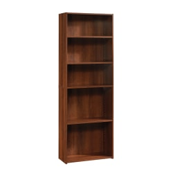 Sauder® Beginnings Bookcase, 5 Shelf, Brook Cherry
