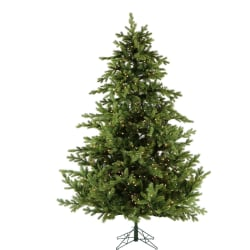 Fraser Hill Farm Southern Peace Pine Christmas Tree, With Clear LED Lighting, 6 1/2', Green