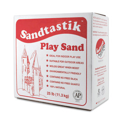 Sandtastik® Play Sand, 25 lb, Sparkling White, Pack Of 2