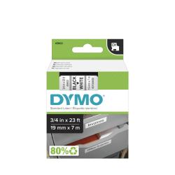 """DYMO® D1 45803 Black-On-White Tape, 0.75"""" x 23'"""