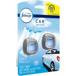 Febreze® Car Vent Clips Air Freshener, Linen And Sky, 2 Oz