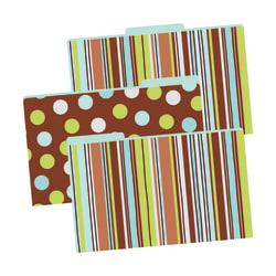 "Barker Creek Tab File Folders, 8 1/2"" x 14"", Legal Size, Ribbon, Pack Of 9"