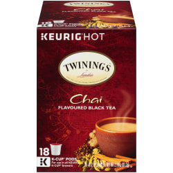 Twinings® Chai Tea Single-Serve K-Cups®, 0.4 Oz, Box Of 18