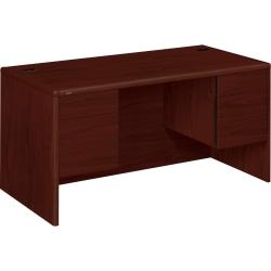 HON® 10700 Series™ Laminate Double-Pedestal Desk, Mahogany