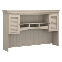 Bush Furniture Fairview Hutch for L Shaped Desk, Antique White, Standard Delivery