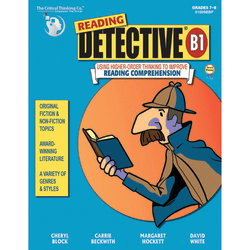 The Critical Thinking Co. Reading Detective® B1 Workbook, Grades 7-8