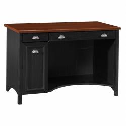 "Bush Furniture Fairview Computer Desk, 48""W, Antique Black/Hansen Cherry, Standard Delivery"