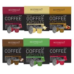 Bestpresso Single-Serve Coffee Freshpacks, Tropical, Variety Pack, Carton Of 120, 6 x 20 Per Box