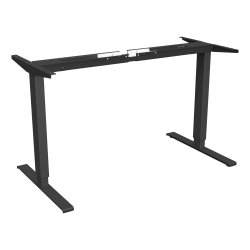 Lorell® Quadro Workstation Sit-to-Stand 2-Tier Base, Black