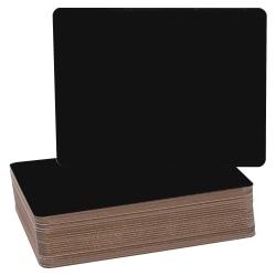 "Flipside Black Chalk Board Class Pack, 9 1/2"" x 12"", Black, Pack Of 24"