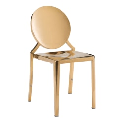 Zuo Modern Eclipse Dining Chairs, Gold, Set Of 2 Chairs