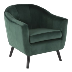 LumiSource Rockwell Contemporary Accent Chair, Black/Green