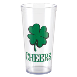 Amscan St. Patrick's Day Plastic Shamrock Cups, 20 Oz, Pack Of 5 Cups