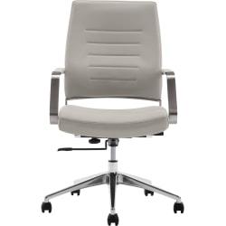 StyleWorks Milan Ergonomic Mid-Back Chair, Pewter
