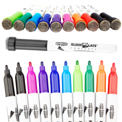 KleenSlate Assorted Small Dry Erase Markers with Erasers