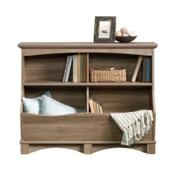 Sauder® Harbor View 4-Shelf Bin Bookcase, Salt Oak