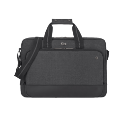 "Solo® Astor Slim Brief With 15.6"" Laptop Pocket, Gray"