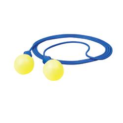 3M™ E-A-R Foam Push-In Corded Earplugs, Blue/Yellow, Box Of 200 Pairs