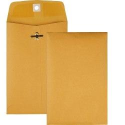 "Quality Park® Clasp Envelopes, #35, 5"" x 7 1/2"", Brown, Box Of 100"