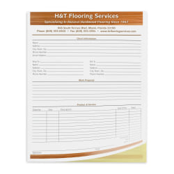 """Custom Carbonless Business Forms, Create Your Own, Value Full-Color, 8-1/2"""" x 11"""", 2-Part, Box of 50"""