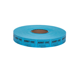 Office Depot® Brand Ticket Roll, Single Coupon, Assorted, Roll Of 2,000, No Color Choice