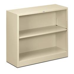 HON® Brigade® Steel Bookcase, 2 Shelves, Putty